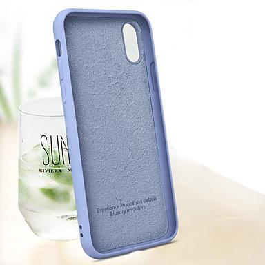 voordelige iPhone X hoesjes-hoesje Voor Apple iPhone XS / iPhone XR / iPhone XS Max Schokbestendig Achterkant Effen Zacht TPU / Siliconen / Katoen