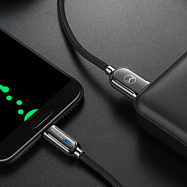 Недорогие Универсальные аксессуары для мобильных телефонов-1,5 м Android Smart Power Off линии передачи данных Micro USB мобильного телефона QC3.0 быстрой зарядки линии зарядки второго поколения мудрый