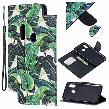 voordelige Galaxy A-serie hoesjes / covers-hoesje Voor Samsung Galaxy A6 (2018) / A6+ (2018) / Galaxy A7(2018) Portemonnee / Kaarthouder / Schokbestendig Volledig hoesje Boom PU-nahka