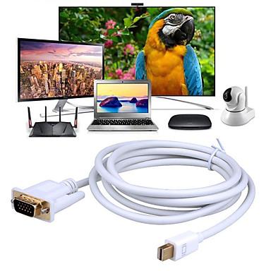 billige Kabler og adaptere-mini dp til vga kabel mini displayport (thunderbolt 2) til vga adapter kompatibel med mackbook pro / air imac dell monitor overflade