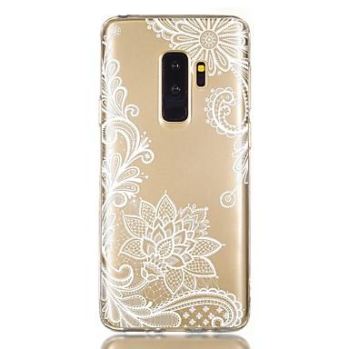 voordelige Galaxy S-serie hoesjes / covers-hoesje Voor Samsung Galaxy S9 / S9 Plus / S8 Plus Schokbestendig / Transparant / Patroon Achterkant Bloem TPU