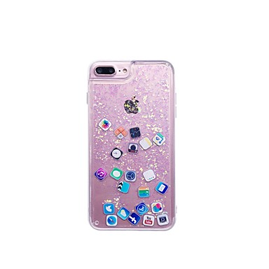 voordelige iPhone 6 Plus hoesjes-hoesje Voor Apple iPhone XS / iPhone XR / iPhone XS Max Stromende vloeistof Achterkant Spelen met Apple-logo Zacht TPU