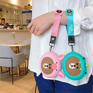 Недорогие Универсальные аксессуары для мобильных телефонов-Девушка портативная портмоне для портативных наушников сумка для хранения милый мультфильм силиконовый ремешок