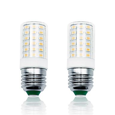 loende 2pack 7w led lumini de porumb 100-265v 900lm e27 lampă 66leds smd5730 alb / cald alb