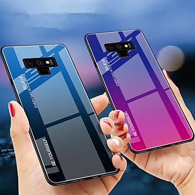 voordelige Galaxy Note-serie hoesjes / covers-hoesje Voor Samsung Galaxy Note 9 / Note 8 Schokbestendig Achterkant Kleurgradatie Hard TPU / Gehard glas