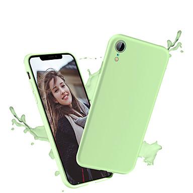 Недорогие Кейсы для iPhone-Кейс для Назначение Apple iPhone XS / iPhone XR / iPhone XS Max Ультратонкий Кейс на заднюю панель Однотонный Мягкий ТПУ / силикагель