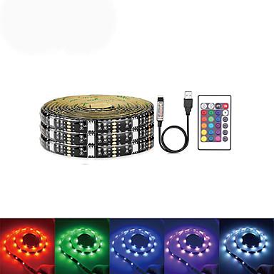 5m Bare De Becuri LED Rigide 150 LED-uri SMD5050 RGB USB / Petrecere / Auto- Adeziv 5 V / Alimentat USB 1set