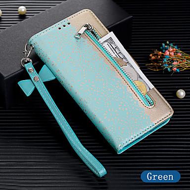 Недорогие Чехлы и кейсы для Galaxy S6 Edge-Кейс для Назначение SSamsung Galaxy S9 / S9 Plus / S8 Plus Кошелек / Бумажник для карт / Флип Чехол Однотонный Кожа PU