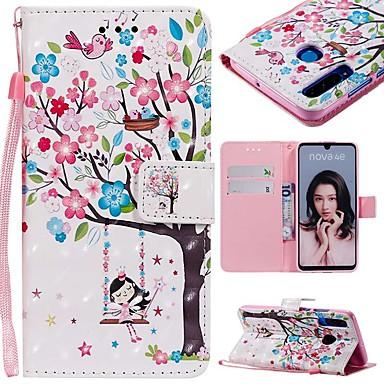 ieftine Carcase / Huse de Huawei-Maska Pentru Huawei P20 Pro / Huawei P30 Lite Portofel / Titluar Card / Anti Șoc Carcasă Telefon Copac Greu PU piele pentru Huawei P20 / Huawei P20 Pro / Huawei P20 lite