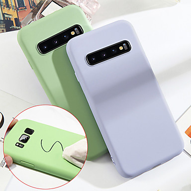 voordelige Galaxy S-serie hoesjes / covers-hoesje Voor Samsung Galaxy S9 / S9 Plus / S8 Plus Schokbestendig Achterkant Effen Zacht TPU / Siliconen / Katoen