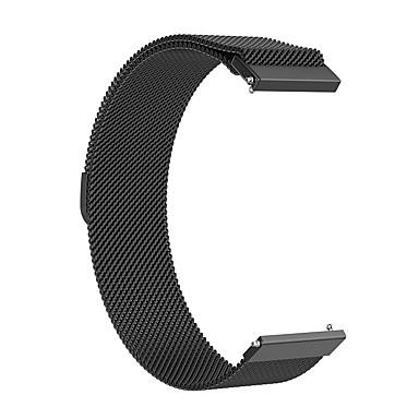 voordelige Horlogebandjes voor Samsung-horlogeband voor 18 mm / 20 mm / 22 mm milanese lus roestvrij stalen polsband