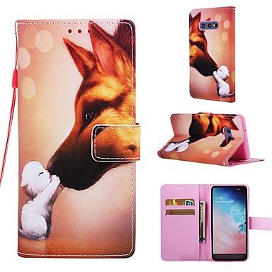 voordelige Galaxy S-serie hoesjes / covers-hoesje Voor Samsung Galaxy S9 / S9 Plus / S8 Plus Portemonnee / Kaarthouder / met standaard Volledig hoesje Hond Hard PU-nahka