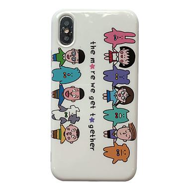 voordelige iPhone 7 hoesjes-hoesje Voor Apple iPhone XS / iPhone XR / iPhone XS Max IMD / Patroon Achterkant Cartoon TPU