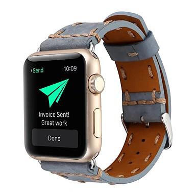 Недорогие Ремешки для Apple Watch-ремешок для часов для Apple Watch серии 4/3/2/1 яблоко классическая пряжка нейлон / ремешок из натуральной кожи