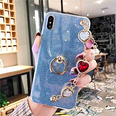 voordelige Galaxy Note-serie hoesjes / covers-hoesje Voor Samsung Galaxy S9 / S9 Plus / S8 Plus Strass Achterkant Transparant TPU
