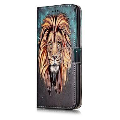 Недорогие Чехлы и кейсы для Galaxy S6 Edge-Кейс для Назначение SSamsung Galaxy S6 edge Защита от удара Чехол Животное Твердый Кожа PU