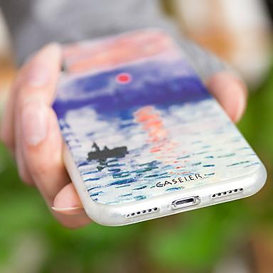 Недорогие Чехлы и кейсы для Galaxy S6 Edge-Кейс для Назначение SSamsung Galaxy S7 edge / S6 edge / S6 Защита от пыли / Ультратонкий / С узором Кейс на заднюю панель Пейзаж Мягкий ТПУ