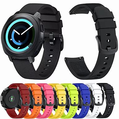 Недорогие Ремешки для часов Huawei-Ремешок для часов для Huawei Watch 2 Huawei Спортивный ремешок / Классическая застежка силиконовый Повязка на запястье