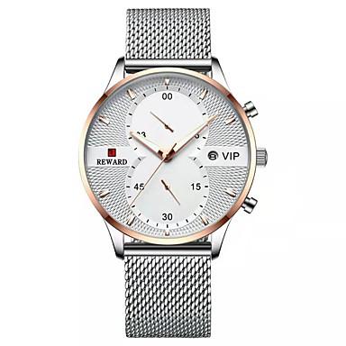 Недорогие Часы на металлическом ремешке-Муж. Спортивные часы Японский Японский кварц Спортивные Стильные Нержавеющая сталь Черный / Белый / Синий 30 m Защита от влаги Фосфоресцирующий Аналого-цифровые На каждый день Мода -  / Два года