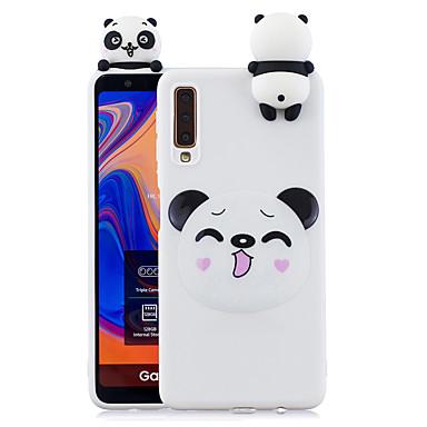 voordelige Galaxy A-serie hoesjes / covers-hoesje Voor Samsung Galaxy Galaxy A7(2018) Schokbestendig / Stofbestendig / Patroon Achterkant Hond / 3D Cartoon / Panda Zacht TPU
