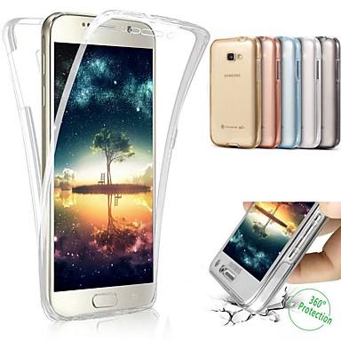 voordelige Galaxy A-serie hoesjes / covers-hoesje Voor Samsung Galaxy A5 (2017) Schokbestendig / Doorzichtig Achterkant Transparant Zacht Muovi / silica Gel