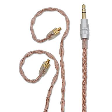 billige Kabler og adaptere-bqeyz 8 kerner enkeltkrystal kobber kablet i-øret øretelefon kabel mmcx stik 3,5 mm stik uden mikrofon