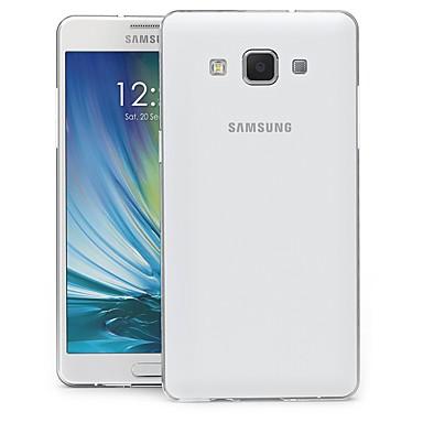 Недорогие Чехлы и кейсы для Galaxy A5-Кейс для Назначение SSamsung Galaxy A5 Защита от пыли / Прозрачный / Резервная копия Кейс на заднюю панель Прозрачный Мягкий ТПУ
