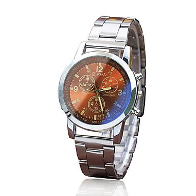 Недорогие Часы на металлическом ремешке-Муж. Нарядные часы Кварцевый Стильные Нержавеющая сталь Серебристый металл Повседневные часы Аналоговый Классика На каждый день - Черный Белый Коричневый Один год Срок службы батареи