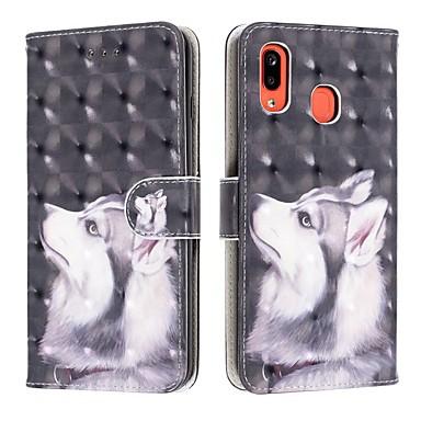 voordelige Galaxy A-serie hoesjes / covers-hoesje Voor Samsung Galaxy A6 (2018) / A6+ (2018) / Galaxy A7(2018) Portemonnee / Kaarthouder / Schokbestendig Volledig hoesje Hond PU-nahka
