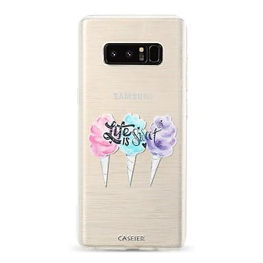 Недорогие Чехлы и кейсы для Galaxy S6-Кейс для Назначение SSamsung Galaxy S9 / S9 Plus / S8 Plus Защита от пыли / Ультратонкий / Полупрозрачный Кейс на заднюю панель Продукты питания / Мультипликация ТПУ