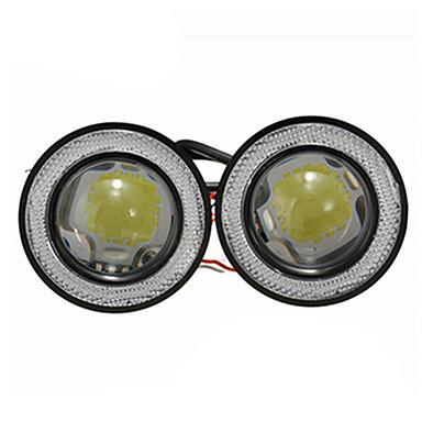 voordelige Motorverlichting-2 stks / partij auto mistlampen universele waterdichte 1200lm angel eyes cob led drl rijden lichten 12 v 30 w auto mistlamp