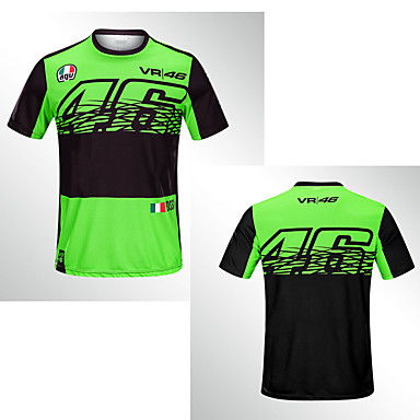 voordelige Motorjacks-nieuwe 2019 dunne 46 groene sneldrogende off-road motorrijden korte mouwen race ridder sneldrogende ademend moto gp motorfiets mannelijk t-shirt