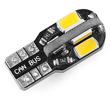 Недорогие Фары для мотоциклов-10 шт. T10 из светодиодов интерьер автомобиля лампы canbus без ошибок t10 белый 5730 8smd из светодиодов 12 В боковой клин свет автомобиля