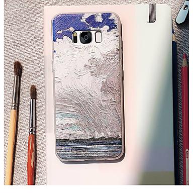 Недорогие Чехлы и кейсы для Galaxy S6 Edge-Кейс для Назначение SSamsung Galaxy S9 Plus / S8 Plus / S8 Водонепроницаемый / Защита от пыли / С узором Кейс на заднюю панель Пейзаж ТПУ