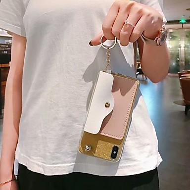 voordelige Galaxy Note 5 Hoesjes / covers-hoesje Voor Samsung Galaxy S9 / S9 Plus / S8 Plus Portemonnee / Kaarthouder / Schokbestendig Achterkant Hart / Glitterglans TPU