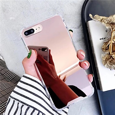Недорогие Кейсы для iPhone 7-Кейс для Назначение Apple iPhone XS / iPhone XR / iPhone XS Max Зеркальная поверхность / Ультратонкий Кейс на заднюю панель Однотонный ТПУ