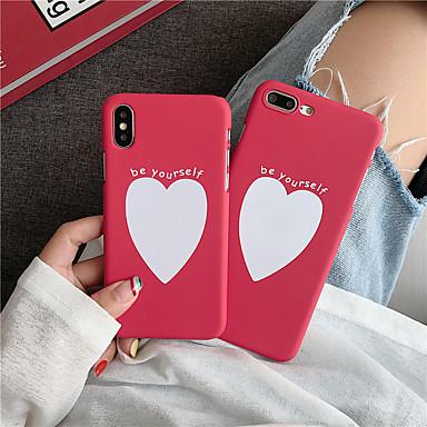voordelige iPhone 6 Plus hoesjes-hoesje voor Apple iPhone XS / iPhone XR / iPhone XS Max Frost / Patroon Achterkant Spelen met Apple-logo / Heart PC voor iPhone 6/7/8 / 6plus / 7plus / 8plus / X / XS / XR / XS Max