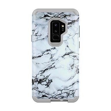 voordelige Galaxy S-serie hoesjes / covers-hoesje Voor Samsung Galaxy S9 / S9 Plus Schokbestendig / Waterbestendig Achterkant Marmer PC / silica Gel