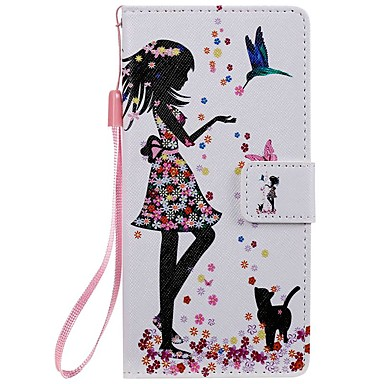cheap Galaxy Note 4 Cases / Covers-Case For Samsung Galaxy Note 9 / Note 8 / Note 5 Wallet / Card Holder / with Stand Full Body Cases Cat / Sexy Lady PU Leather  For Samsung Galaxy Note 10/Note 10 Plus/Note 4