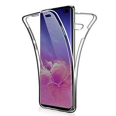 voordelige Galaxy S-serie hoesjes / covers-360 dubbele siliconen case voor Samsung Galaxy S10 Plus S10 E S10 S9 Plus S9 S8 Plus S8 S7 Edge S7 Note 9 Note 8 Note 10 Plus Note 10 Transparant Clear Soft TPU Case Cover