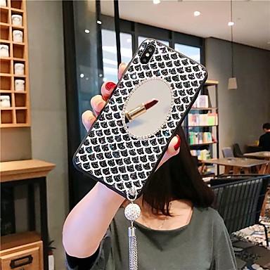 voordelige Galaxy Note-serie hoesjes / covers-hoesje Voor Samsung Galaxy S9 / S9 Plus / S8 Plus Schokbestendig / Strass / Spiegel Achterkant Glitterglans Acryl