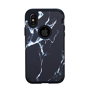 cheap iPhone Cases-Case For Apple iPhone XS / iPhone XR / iPhone XS Max Shockproof Back Cover Lines / Waves / Marble PC
