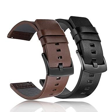 voordelige Horlogebandjes voor Samsung-Horlogeband voor Gear S3 Frontier / Gear S2 Samsung Galaxy Klassieke gesp / DHZ Gereedschap Echt leer Polsband