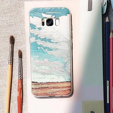 Недорогие Чехлы и кейсы для Galaxy S6 Edge-Кейс для Назначение SSamsung Galaxy S9 Plus / S8 Plus / S7 edge Водонепроницаемый / Защита от пыли / С узором Кейс на заднюю панель Пейзаж ТПУ