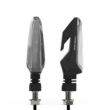 Недорогие Фары для мотоциклов-1 пара мотоциклов поворотники светодиодные указатели поворота водонепроницаемый указатели поворота