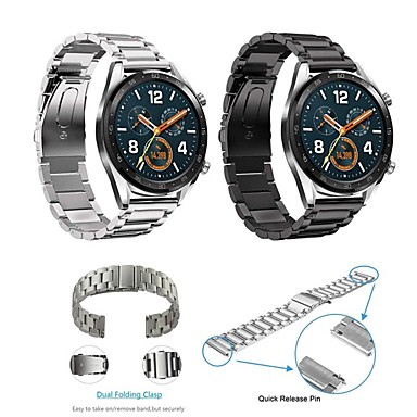 billige Klokkeremmer til Huawei-Klokkerem til Huawei Watch GT Huawei Klassisk spenne Rustfritt stål Håndleddsrem