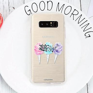 Недорогие Чехлы и кейсы для Galaxy S6 Edge-чехол для samsung galaxy s8 / s7 edge водонепроницаемый / пыленепроницаемый / выкройка задней крышки еда мягкая тпу / свежая и креативная / модная индивидуальность emboss мягкий чехол для телефона