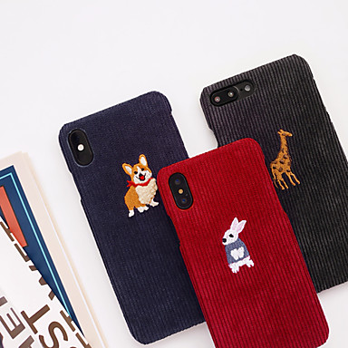 Недорогие Кейсы для iPhone-Кейс для Назначение Apple iPhone XS / iPhone XR / iPhone XS Max С узором Кейс на заднюю панель Животное / Мультипликация текстильный