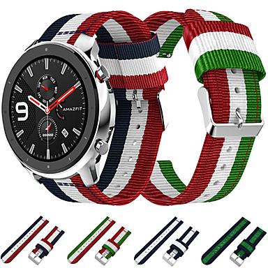 voordelige Horlogebandjes voor Samsung-geweven nylon canvas horlogeband polsband voor xiaomi huami amazfit gtr 42 mm / amazfit bip jeugd / samsung galaxy horloge 42 mm armband vervangbare polsband