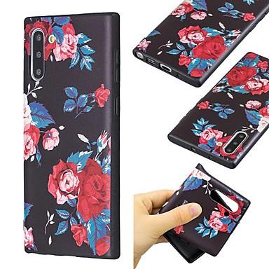 voordelige Galaxy Note-serie hoesjes / covers-hoesje voor Samsung Galaxy Note 9 / Note 8 / Galaxy Note 10 Ultradun / Patroon Achterkant Bloem TPU voor Samsung Galaxy Note 10 Plus